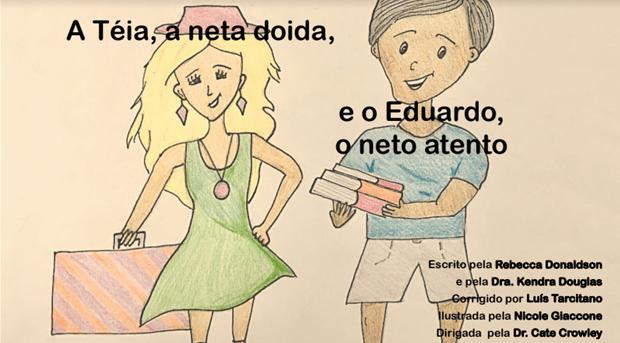 (Brazilian Portuguese) Cleft Palate Practice for T & D – A Téia, a neta doida, e o Eduardo, o neto atento