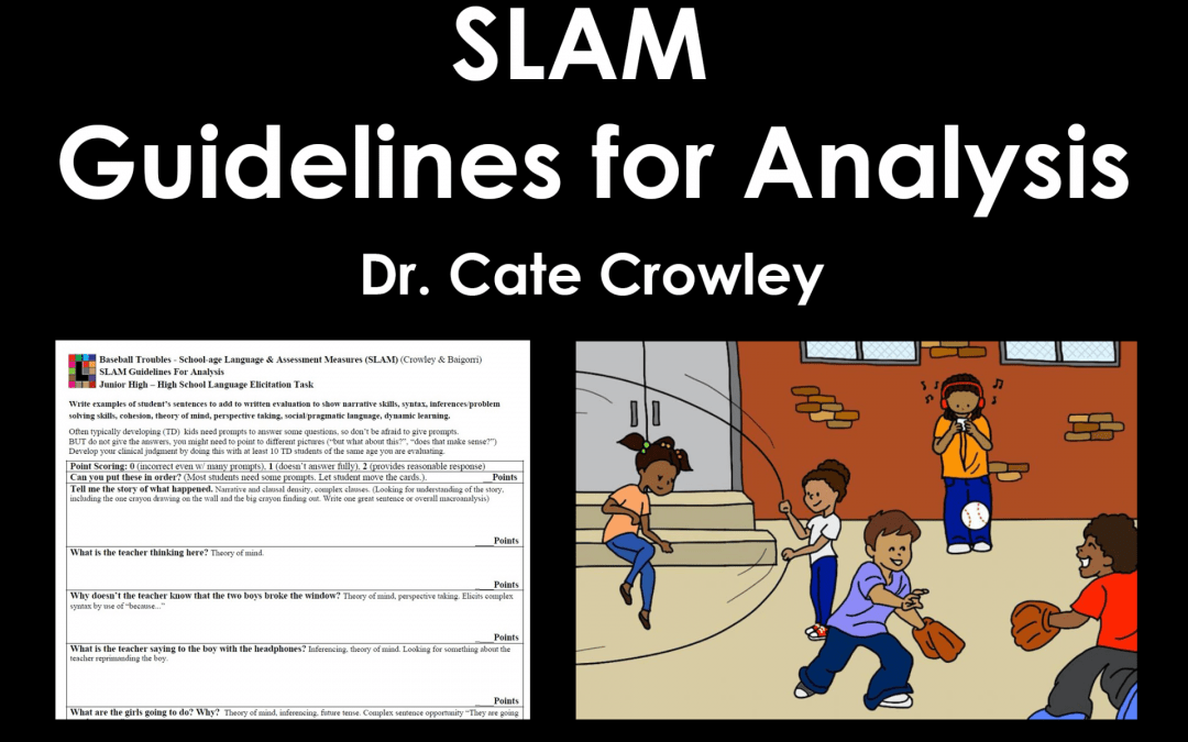 SLAM Guidelines for Analysis