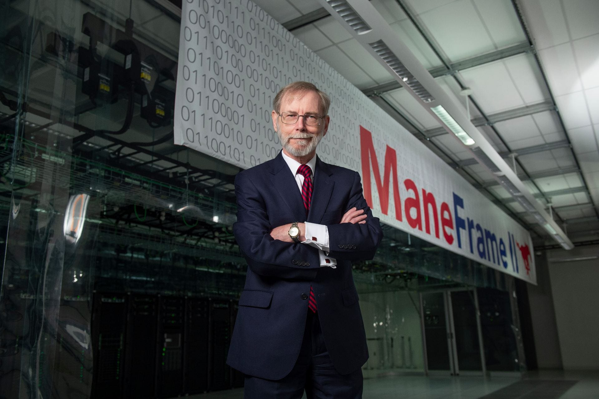 Research Dean James Quick Portrait at Data Center