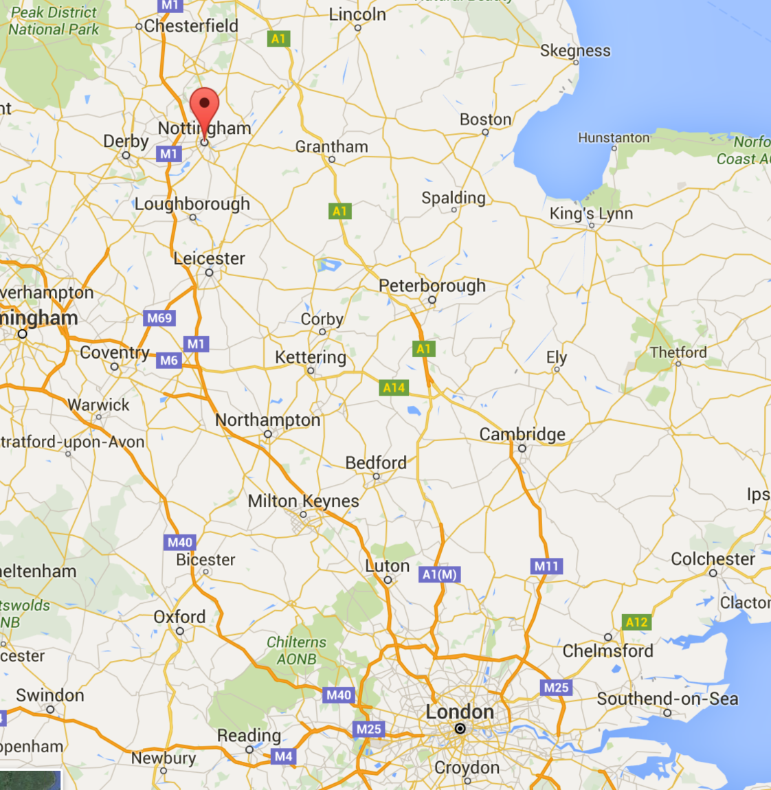 google maps nottingham