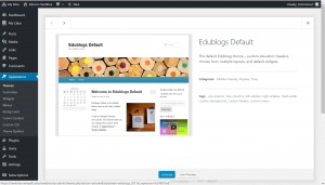 Edublogs categories include Mobile friendly, Popular, Class