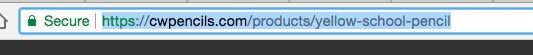 Highlighted URL to copy