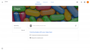 Stream page on your new google classroom page