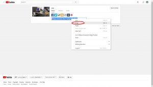 Share tab with link to video highlighted, right-clicked and copy cursor hovered over, circled
