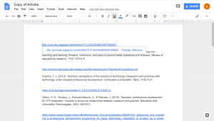 New tab opened with the google document copy