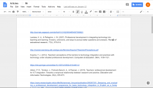 A Google Document with text in it