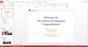 PowerPoint loaded up with PowerPoint file on Home page