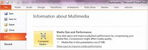 Media Size and Performance option selected