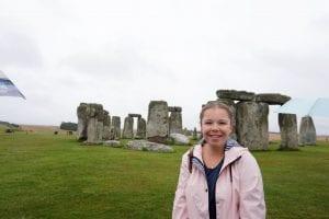 Liz at Stonehenge