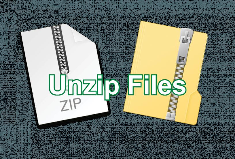 Unzip Files Post icon