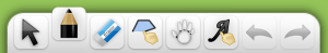 Basic toolbar located in the bottom middle of screen