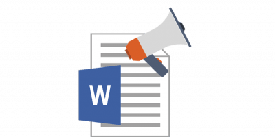 Read out loud Microsoft Word post icon