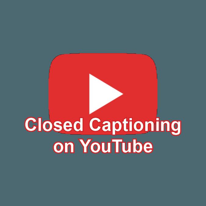 Closed Captioning on YouTube icon
