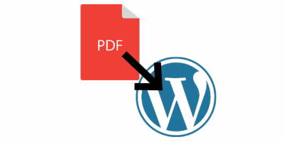 Inserting PDFs into WordPress icon