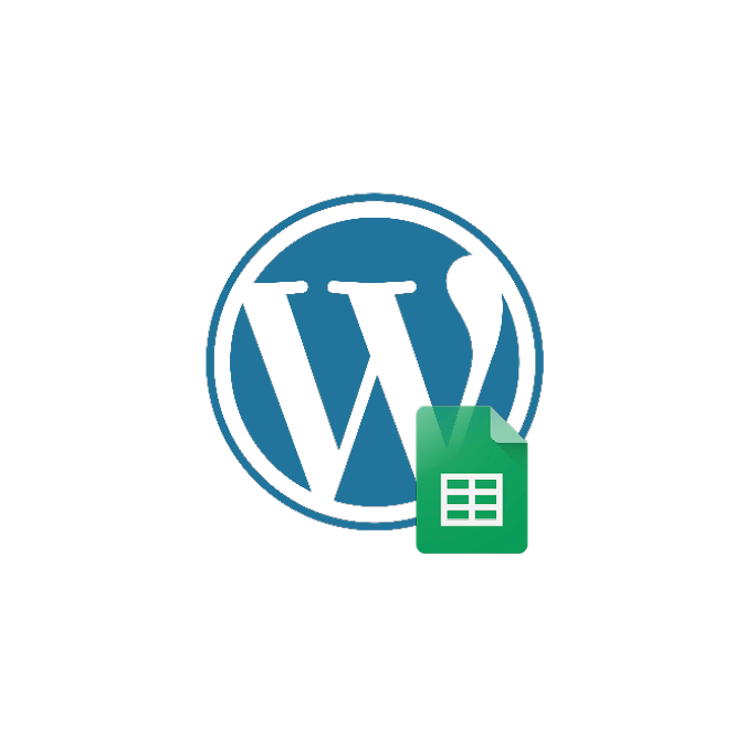 Embedding Google sheets into WordPress icon