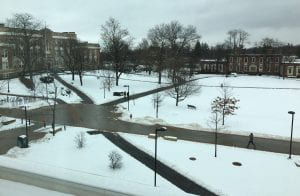 New Paltz quad in winter