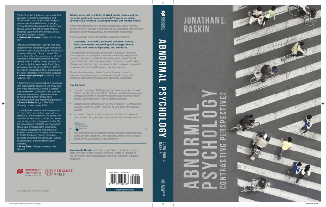 "Front and back cover, ""Abnormal Psychology: Contrasting Perspectives"""