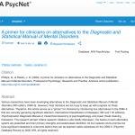 Screen shot of DSM alternatives paper on PsycNET