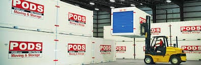 PODS (Portable On Demand Storage) units.