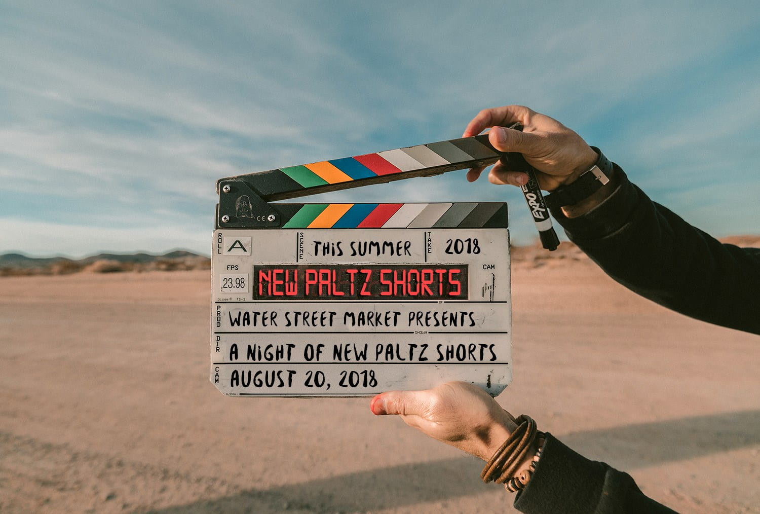 Clapperboard for New Paltz Shorts