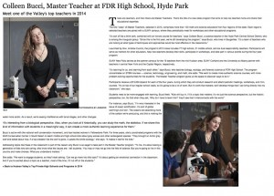 Colleen Bucci, Master Teacher at FDR School, Hyde Park