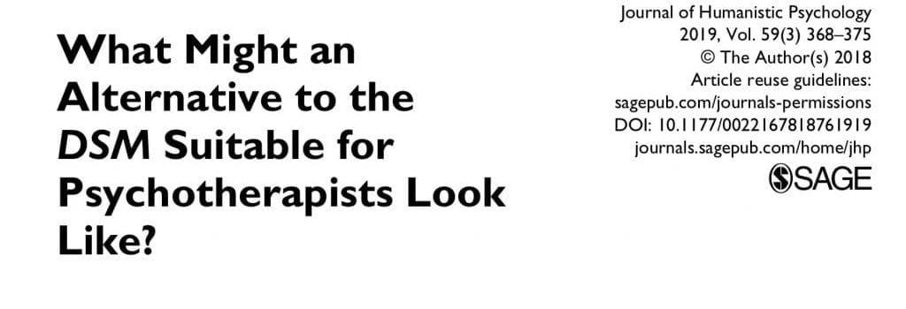 Professor Jonathan Raskin Publishes Article on Alternatives to the DSM-5