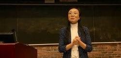 Dr. Yanhong Liu presenting.