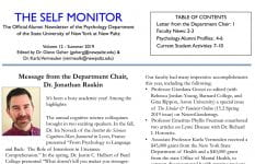 The Self Monitor newsletter, 2019