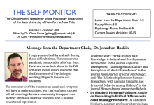 Self Monitor front page, 2020 issue