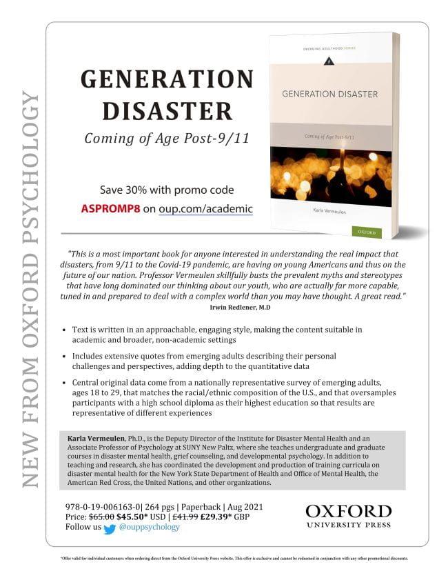 "Flyer, ""Generation Disaster"" book"