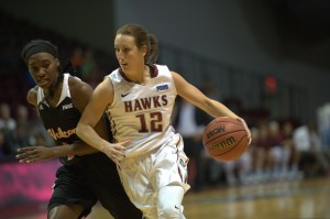 Photo - Leslie Stapleton, a senior on the basketball team roster who is pursuing a degree in biology.