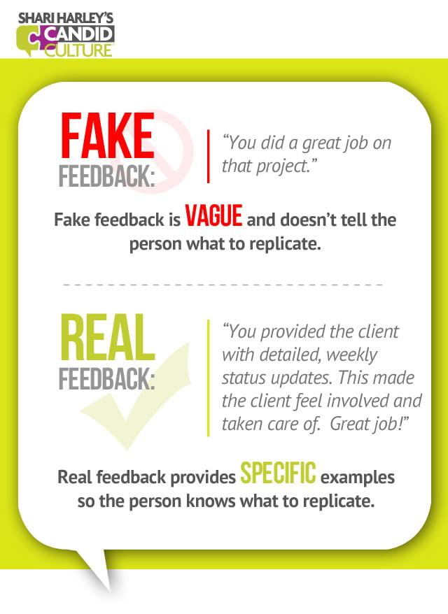 Good vs Fake Feedback