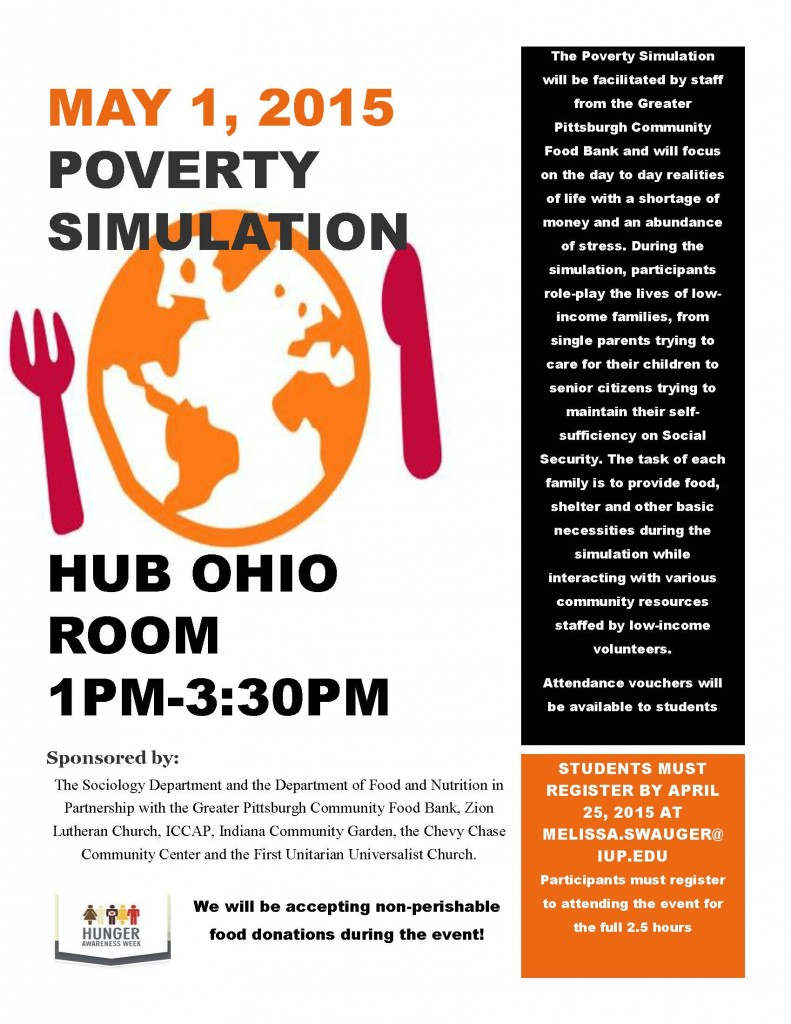 SOC 336 Poverty SimulationFlyer