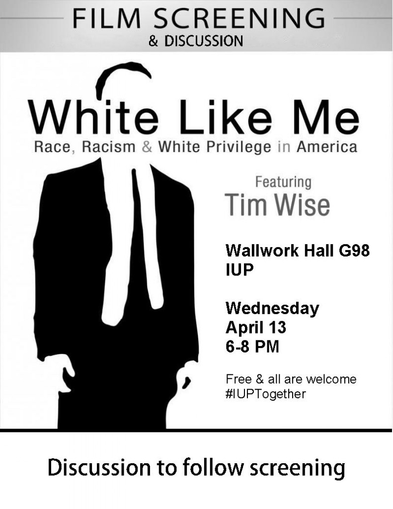 White Like Me flyer