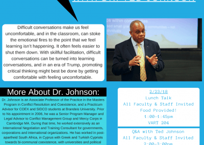 02.23.2018 Difficult Conversations in an Era of Trump, with Dr. Ted Johnson
