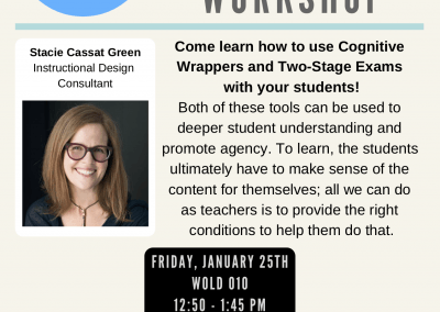 01.25.2019 Learn How to Use Cognitive Wrappers & Two Stage Exams with Students!