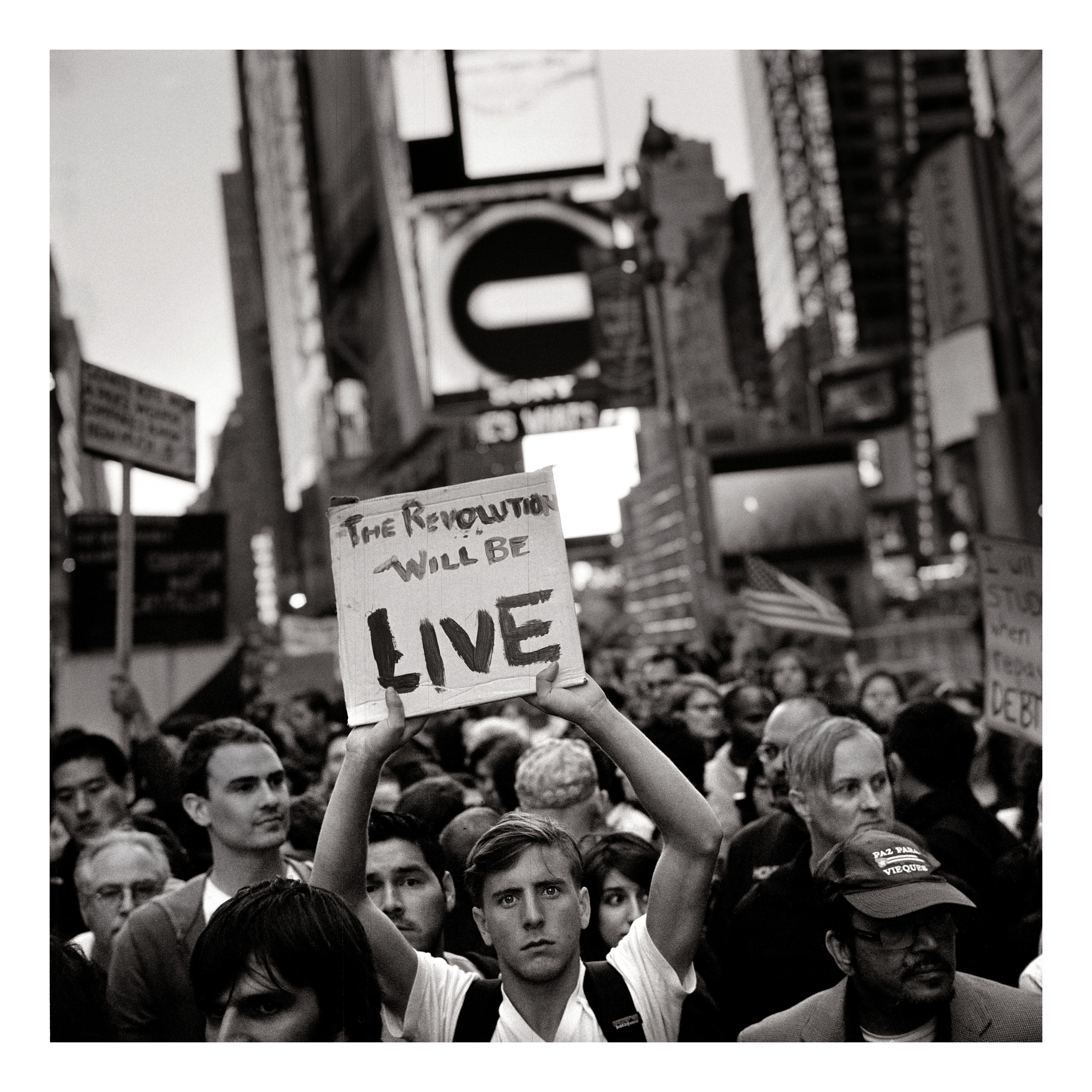 A demonstrator with the Occupy Wallstreet Movement, 2011, giclee print, © Ashley Gilbertson / VII
