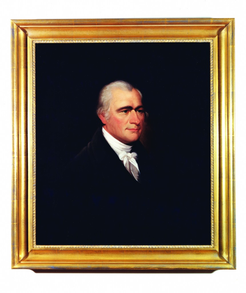Ezra Ames, Portrait of Alexander Hamilton, oil on canvas, c.1810