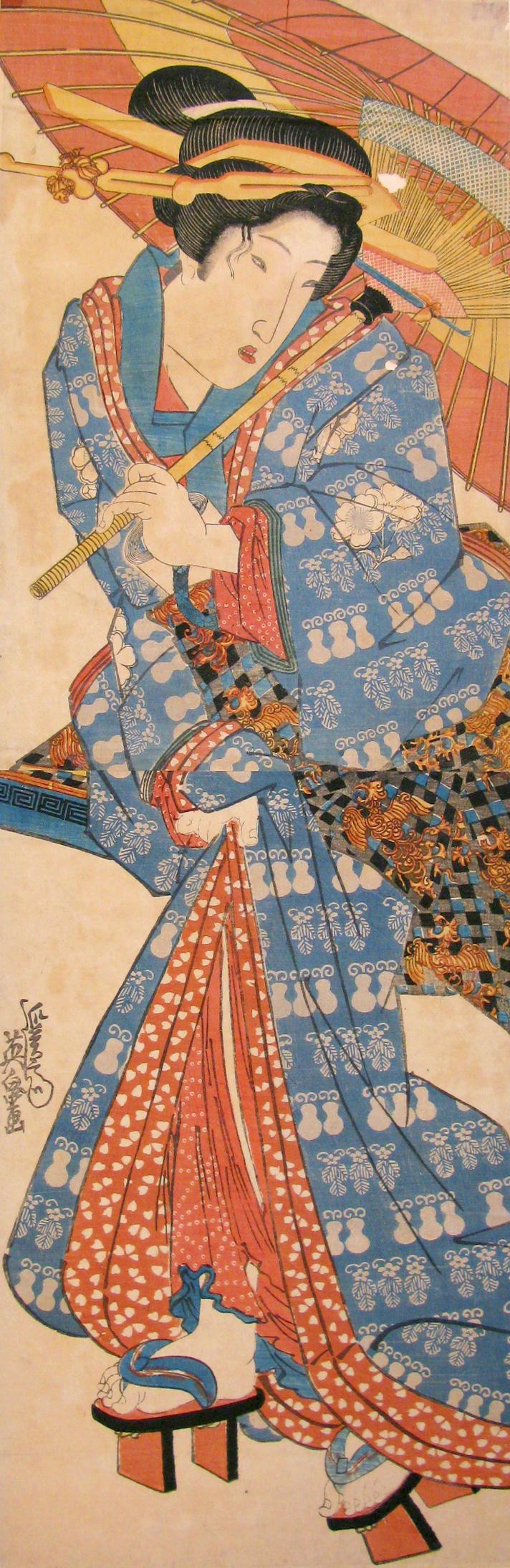Eisen, <i>Untitled woman</i>, Japanese Ukiyo-e print, n.d.