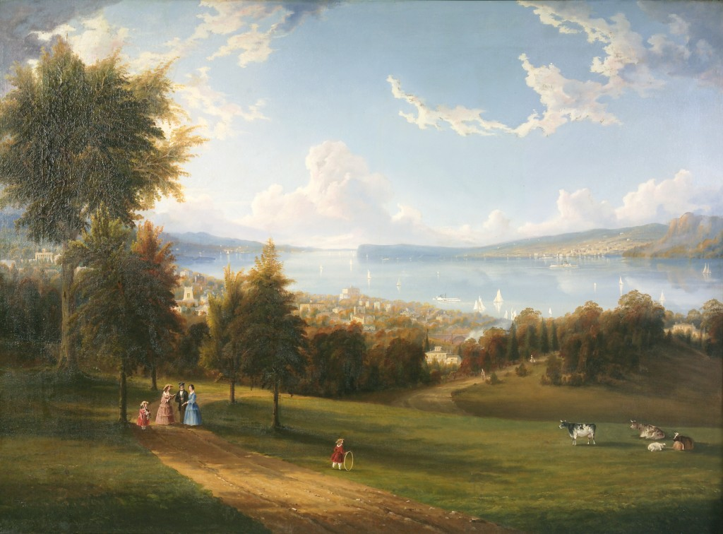 Robert Havell, Jr., View of Sing Sing, oil on canvas, 1856