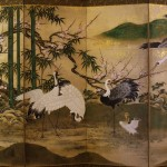 Kano Yoshinobu, Six panel Japanese folding screen, early 19th c.