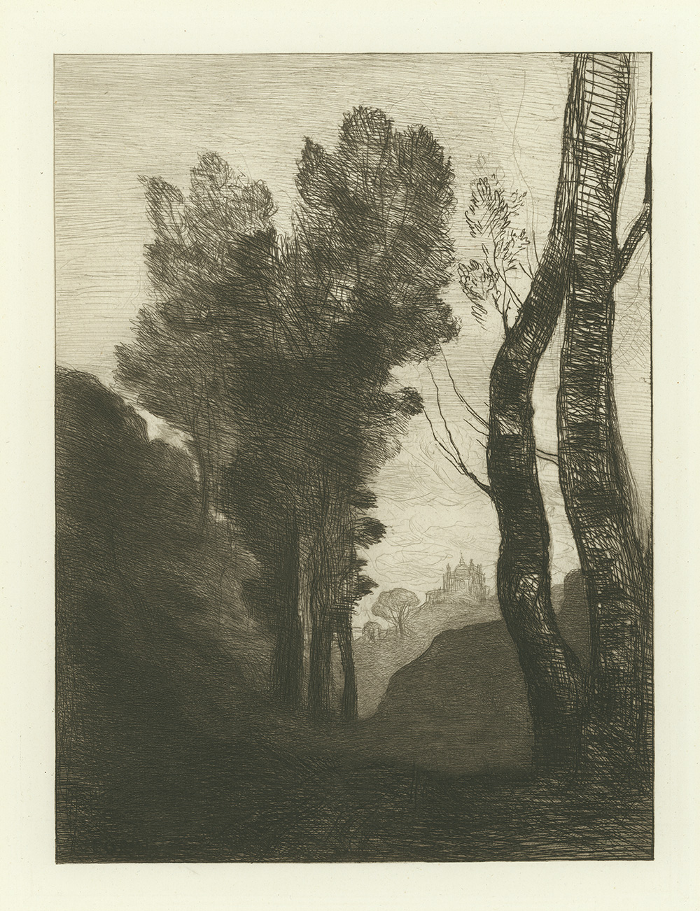 Environs de Rome by Jean-Baptiste Camille Corot