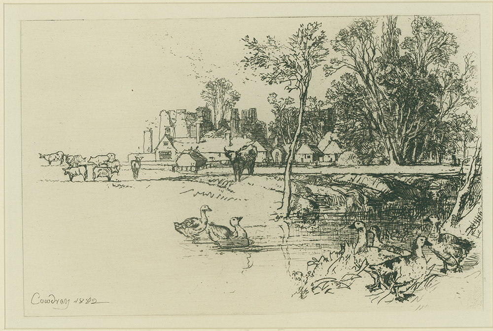 Cowdray with Geese by Sir Francis Seymour Haden
