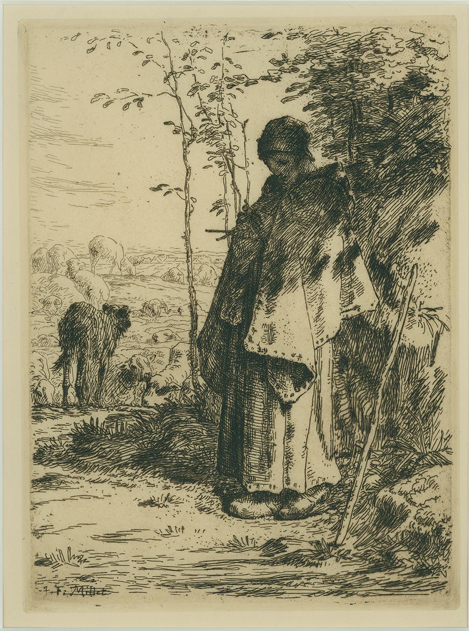La Grande Bergère by Jean-Francois Millet