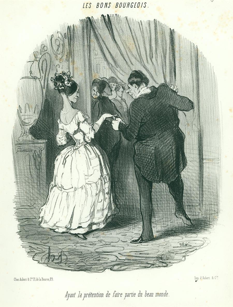 Ayant la retention de faire partie du beau monde by Honoré Daumier