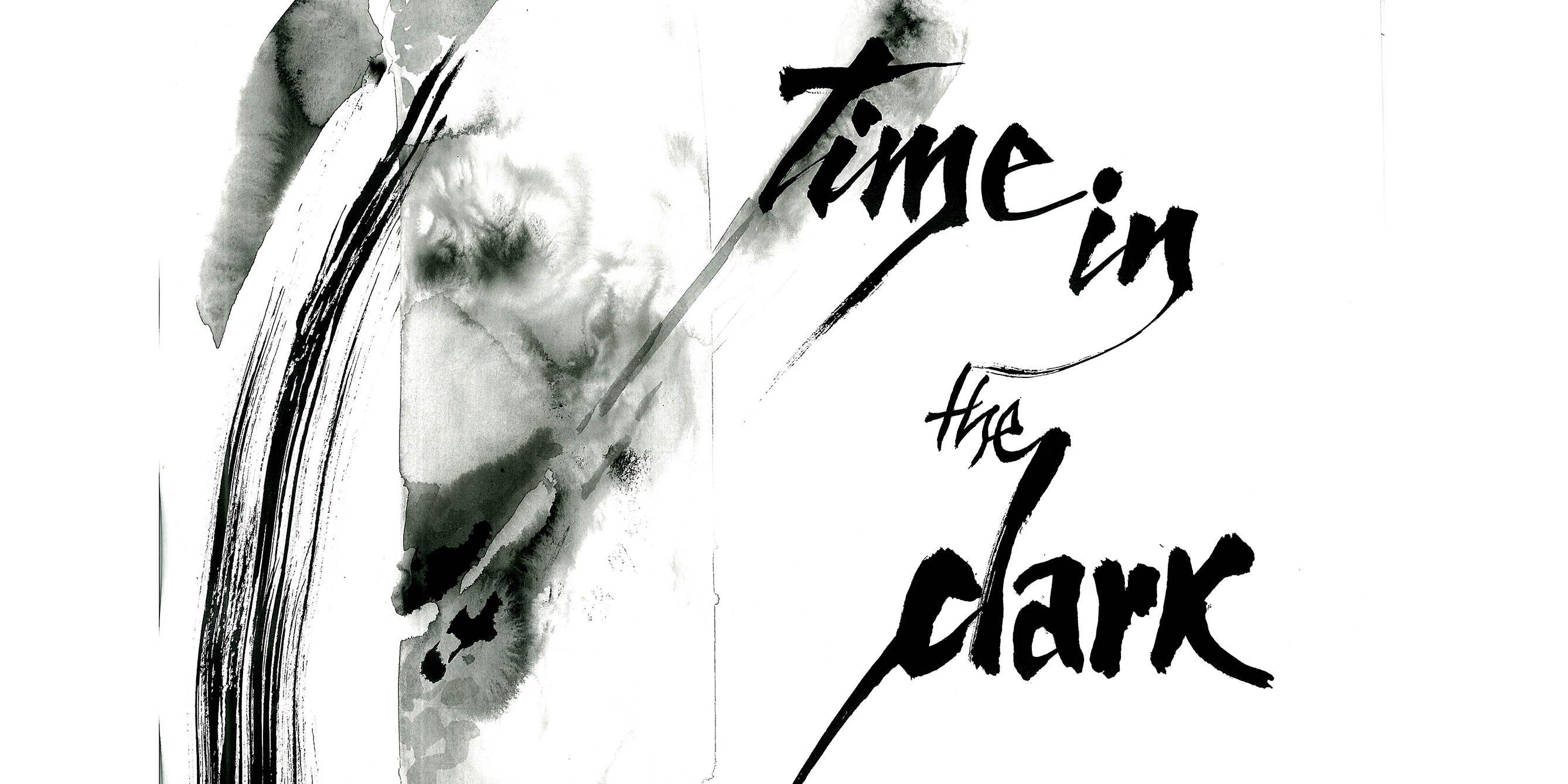 Time in the Dark...(Jim Kacian) (detail), ink on paper, 16 1/2 x 11 3/4 inches