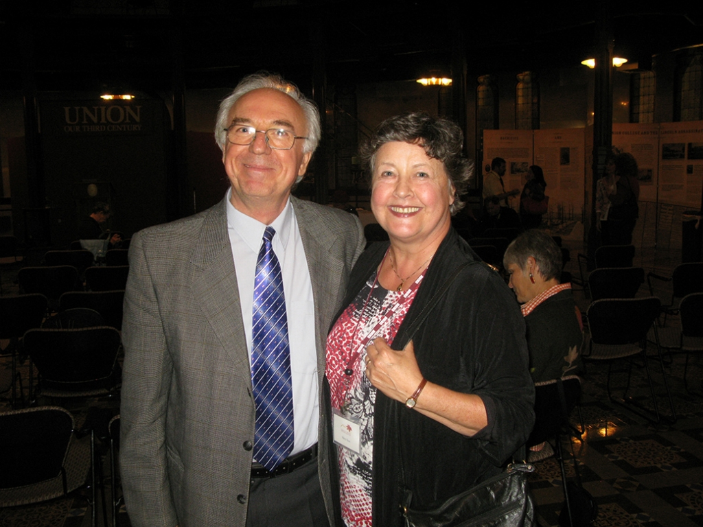 Artist Ion Codrescu and Union College Professor of Music Hilary Tann