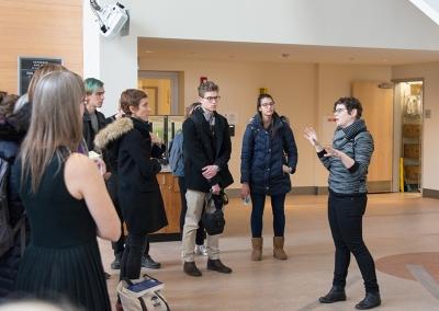 Artist Georgie Friedman discussing her work