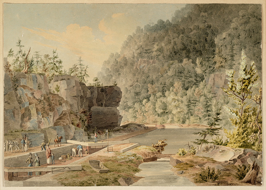 Erie Canal by J. W. Hill