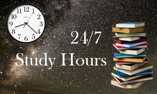 Library Open 24/7 for Study